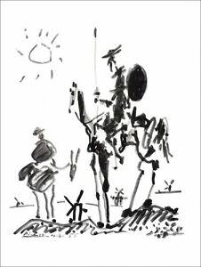 Pablo-PICASSO-Lithographie-034-Don-Quichotte-034-65x50cm