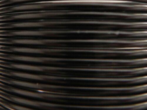 100 Mètres fil aluminium noir 1,5mm