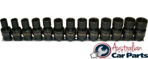 "1//2/"" Drive Metric Universal Impact Socket 13Pc Set T/&E Tools 97490 Reduced Price"