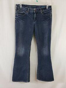 Silver-Jeans-Aiko-Boot-Cut-Womens-Blue-Denim-Size-32-x-31-Medium-Wash-Mid-Rise