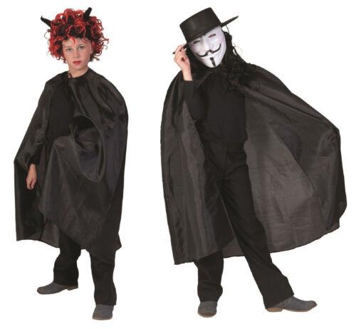 Umhang Kinder Damen Herren Kostüm Dracula Hexe Vampir Cape Hexen Kleid Halloween