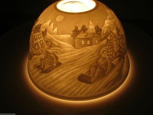 12 x 8 cm verschiedene Motive Porzelan Weihnachtswindlicht Dome Light