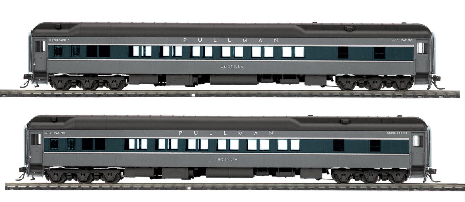 Ho Mth Union Pacific 2 coche pasajeros Set para 2 Riel de peso pesado de la pista 80-40006
