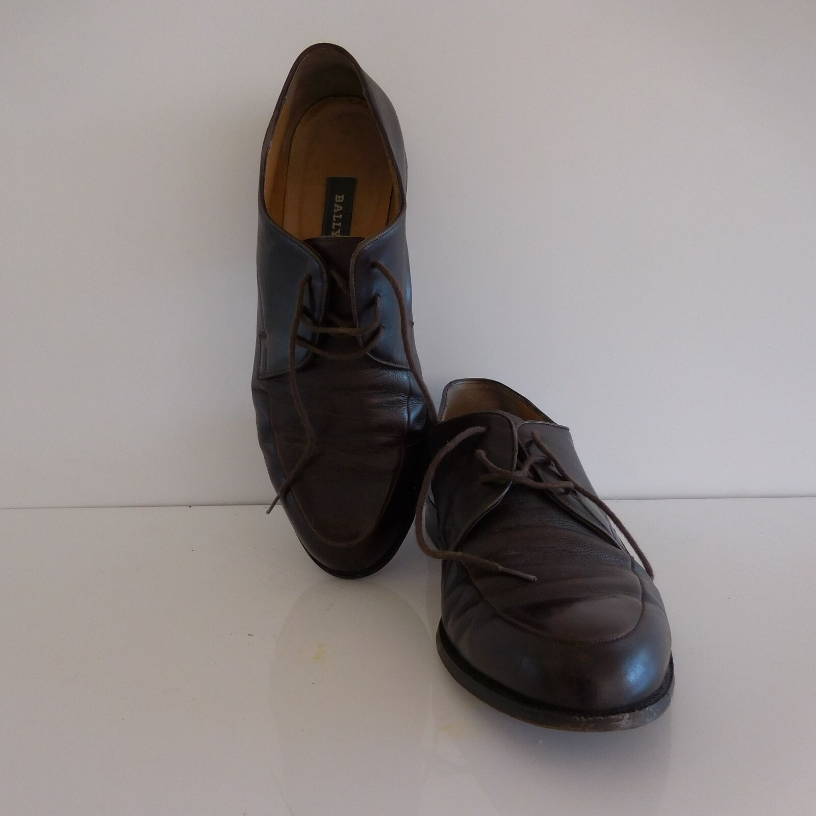 shoes BALLY MARTORE cuir vintage XXème made in