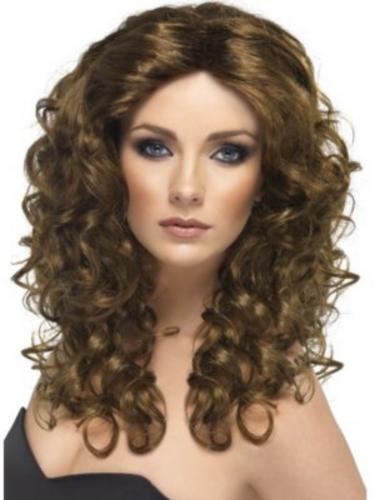 Ladies Glamour Wigs Fancy Dress Curly Stylish Retro Women Costume Accessory New