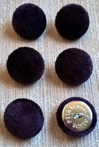 Velours 36L/23mm Deep Purple Upholstery Tissu boutons recouverts Craft  </span>