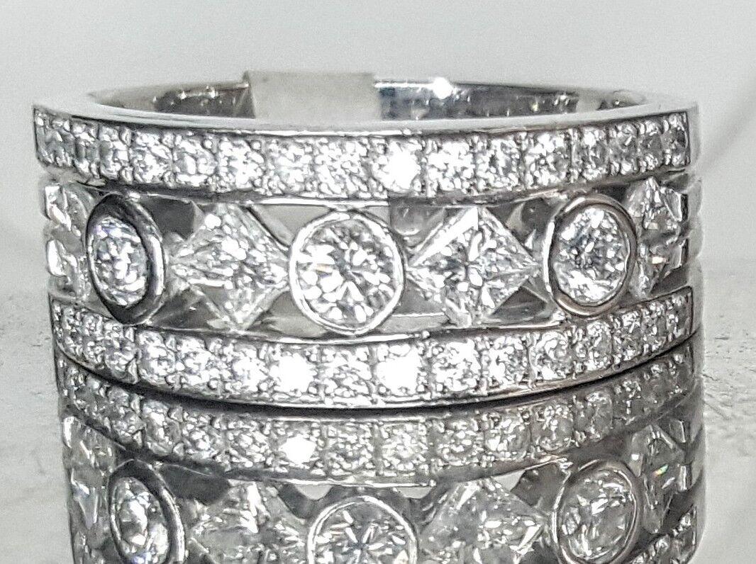 18k WHITE gold ring 1.90ct NATURAL DIAMOND SI1-H