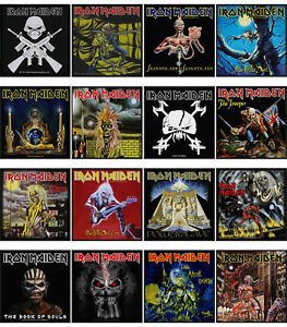 Iron-Maiden-Patch-Book-of-Souls-Trooper-Killers-Eddie-band-logo-Official-New