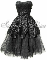 HELL BUNNY Victorian LAVINTAGE Dramatic Steampunk Gothic Evening Dress XL UK 14