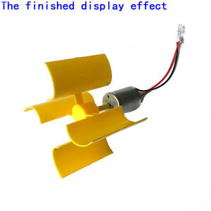 Diy kit small dc motor vertical micro wind turbines blades for Best dc motor for wind turbine
