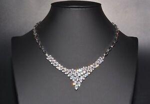 Legierung Crystalized Stone Halskette Mit Strass Cubic Zirconia Kristall,400 Mm Brautschmuck Hochzeitsschmuck