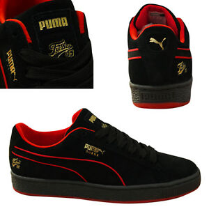 a0059a26e23deb Puma Suede Classic x Fubu Lace Up Mens Trainers Leather Black 366320 ...