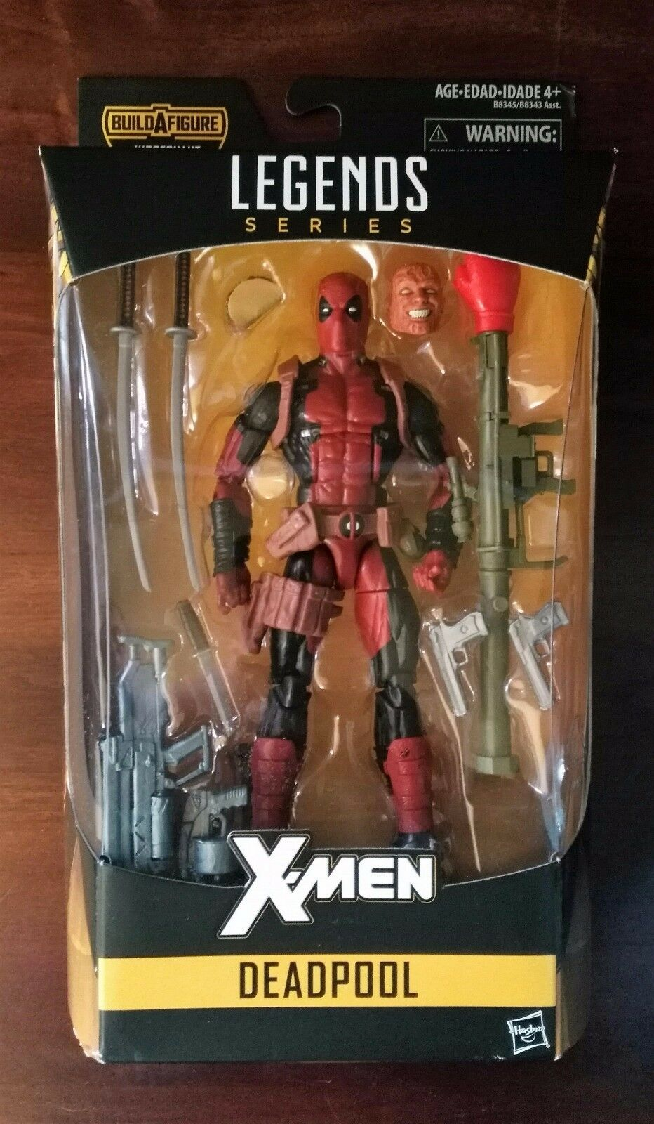 Hasbro marvel legends series baf fr deadpool action - figur - vhtf (selten)
