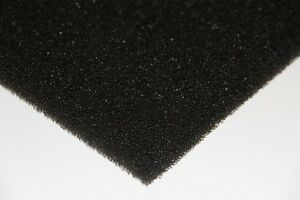 Air Filter Foam Sheet Black 45 Ppi 300 Mm X 300 Mm X 5 Mm