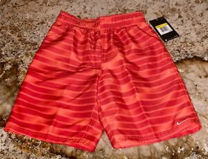 Board Volley da Boys M Red Nike 10 New Red Trunks Pantaloncini surf Orange 12 Suit qzwIgI4x
