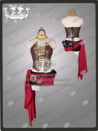 Amine COSPLAY RWBY Pyrrha Nikos Cosplay Costume Full Sets Dress Leather Outfits