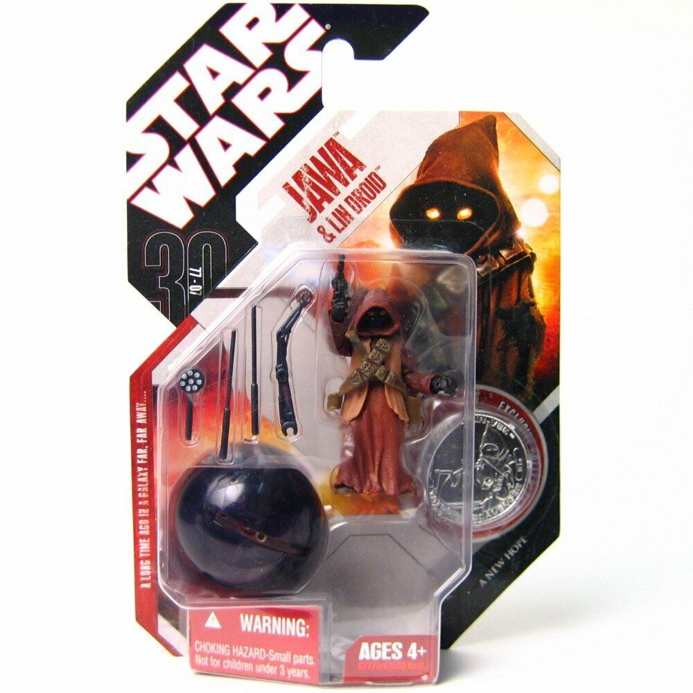 STAR Wars 30th ANNIVERSARIO TATOOINE JAWA & LIN DROID