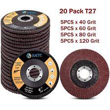 20pcs 4 12 Flap Disc 40 60 80 120 Grit Angle Grinder Sanding Grinding Wheels