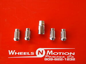 14X2-MM-wheel-Locks-set-of-4-with-1-key-chrome-ford