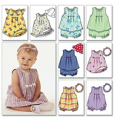 Butterick 3405 Sewing Pattern to MAKE Infant/Baby Dress w/ Panties Rompers & Hat