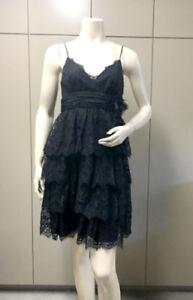 Bcbg Max Amp Cleo Black Xab6b528 Lace Tiered Strap Dress