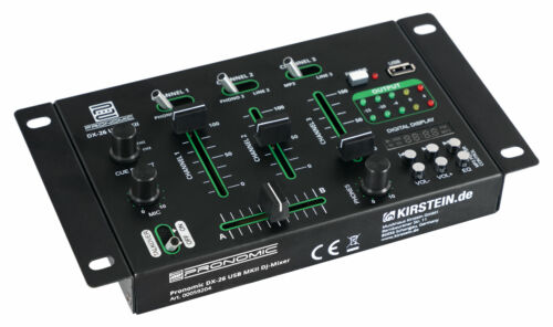 DJ PA Mixer 3//4 Kanal Party Disco Mischpult USB MP3 Player Stereo Mic in Rack EQ