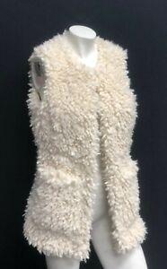 UGG-Australia-Women-039-s-Farrah-Faux-Fur-Vest-Jacket-Cream-1098849-Pockets