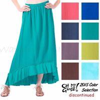 Oh My Gauze Cotton Margo Skirt Ruffle Hem 1 (s/m/l) 2 (xl/1x) 2015 Disc Colors