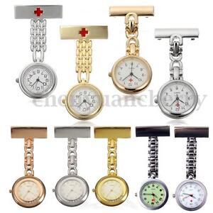 Stainless-Steel-Nurse-Watch-Tunic-Fob-Nursing-Pendant-Clip-Pocket-Quartz-Watch