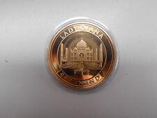 Diana 1992 in India Queen of Hearts Münze Medaille 35 mm 22 g vergoldet