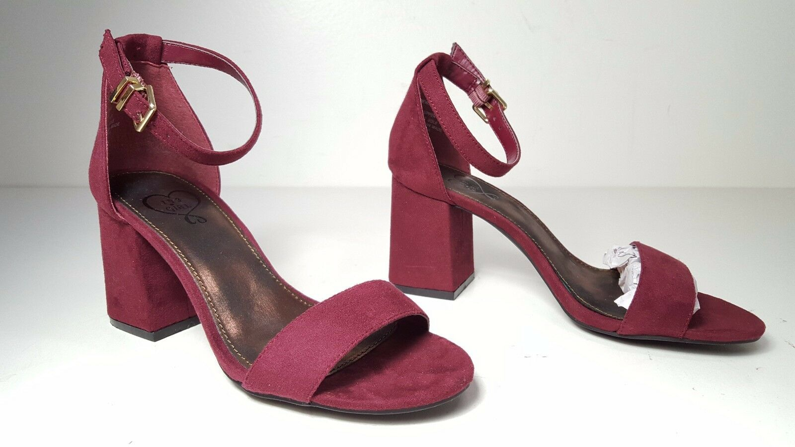143 Sandals girl Newsie Wine Heels Ankle Strap Open Toe Sandals 143 Womens Shoes Size 5 ce7015