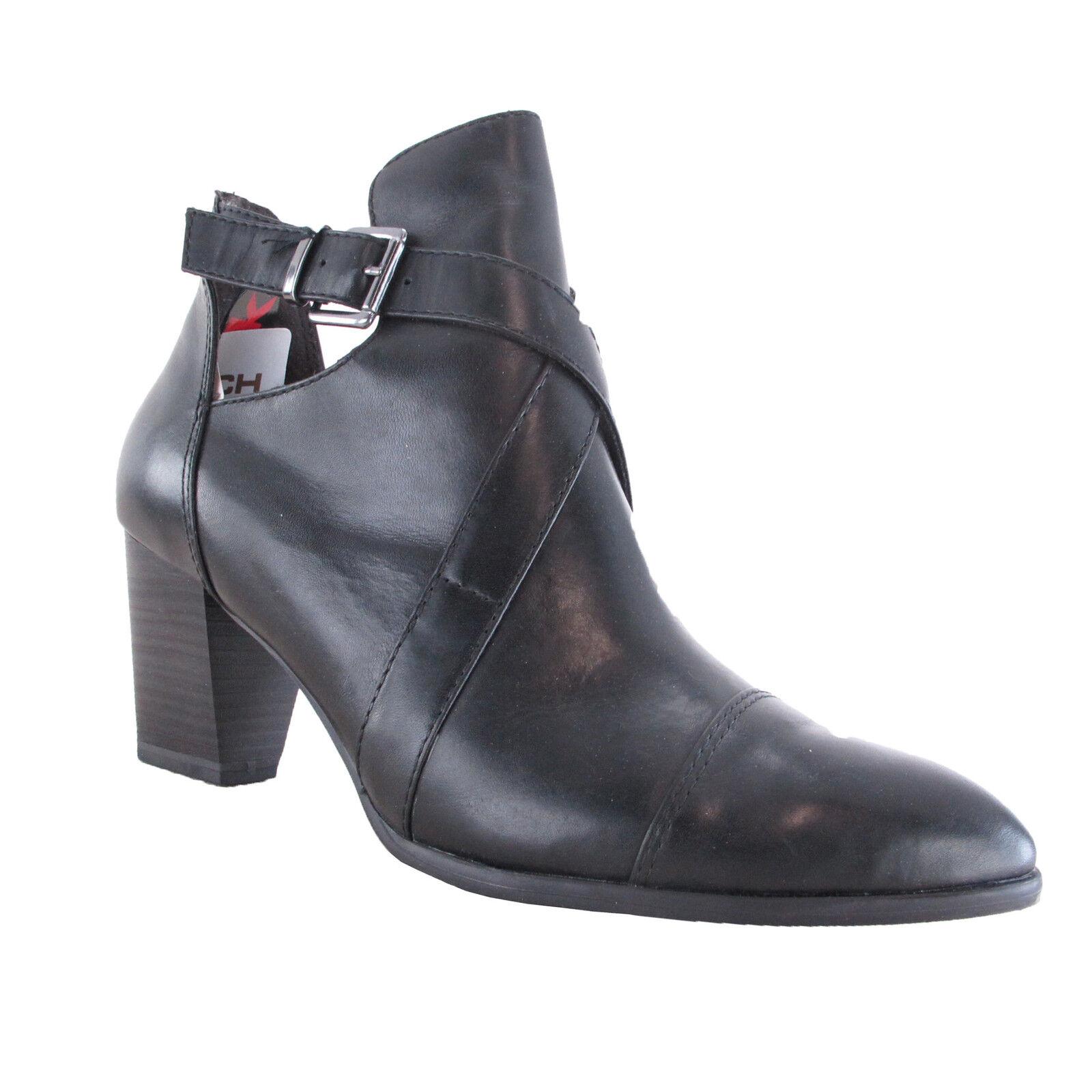 TAMARIS STIEFELETTE SCHWARZ NEU DAMEN  Zapatos NEU  LEDER BLOCKABSATZ ECHTLEDER NEU Zapatos a7ab03