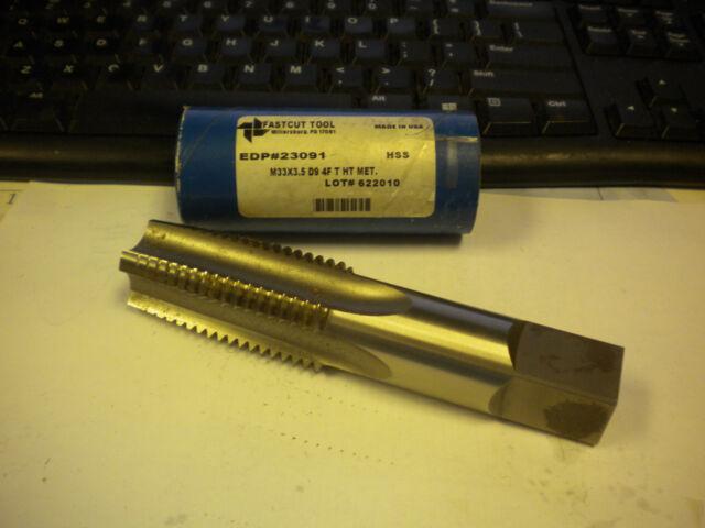 NEW Brubaker Tool Hand Tap HSS M33 X 3.5 D9 4F P HT # 23092 M33X3.5