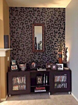 Leopard Print Wall Decal Animal Decor Nursery Art Ebay