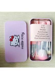 0cb2403b9 New HELLO KITTY 7 pcs Makeup Brushes Set Eyeshadow beginner gift ...