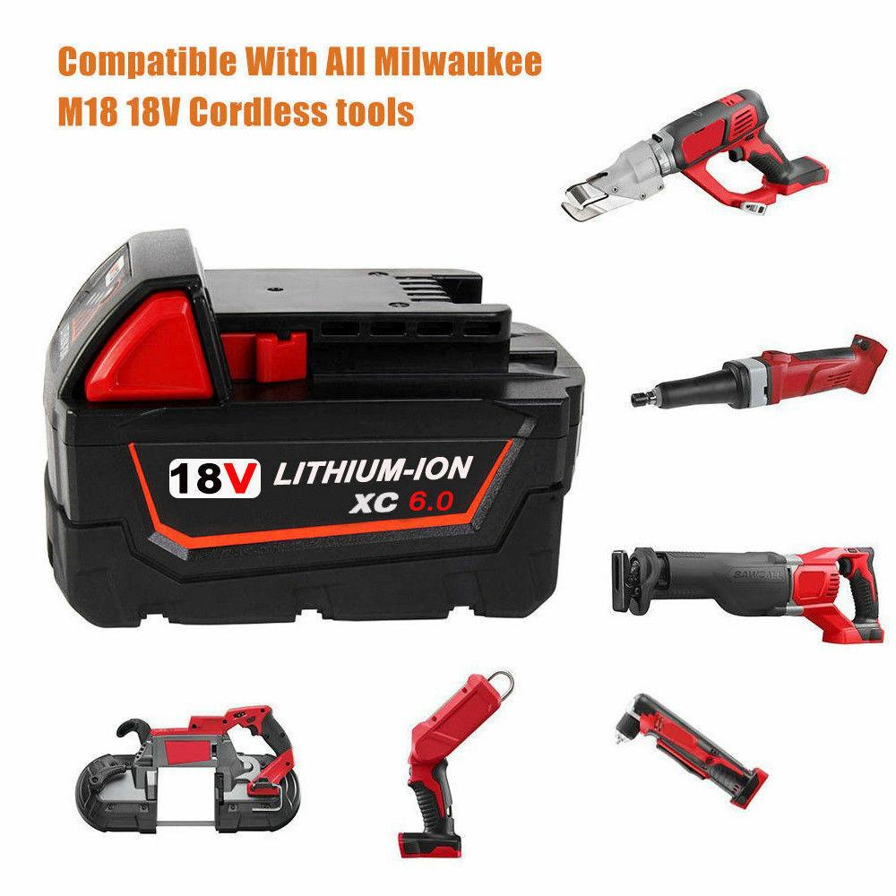 2X18V For Milwaukee M18 M18B5 Lithium 5.0AH Extended Capacity Battery 48-11-1828