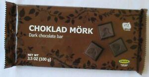 ikea choklad mork dark chocolate 3.5-oz bar   ebay