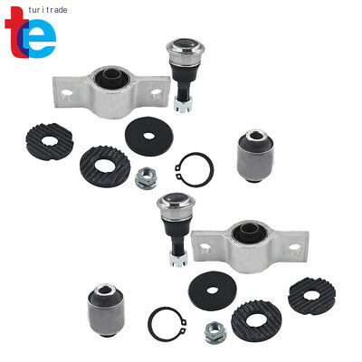 4 FRONT LOWER CONTROL ARM BUSHING 2 BALL JOINT FOR NISSAN ELGRAND 03-10