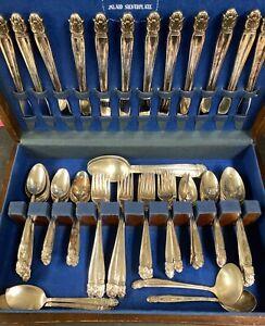 79-Holmes-Edwards-daenische-Prinzessin-Silverplate-Bestecke-Silberbesteck-Mittagessen-Set