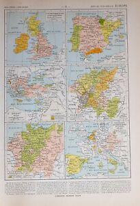 Historische Landkarte Europa 14th Sich 16th Jahrhundert Deutschland Britannien