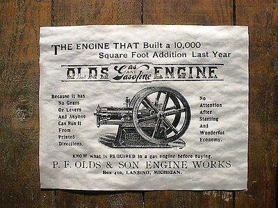 "180 VINTAGE REPRINT ADVERT LIGHTNING STATIONARY GAS ENGINE 1908 11/""x14/"""