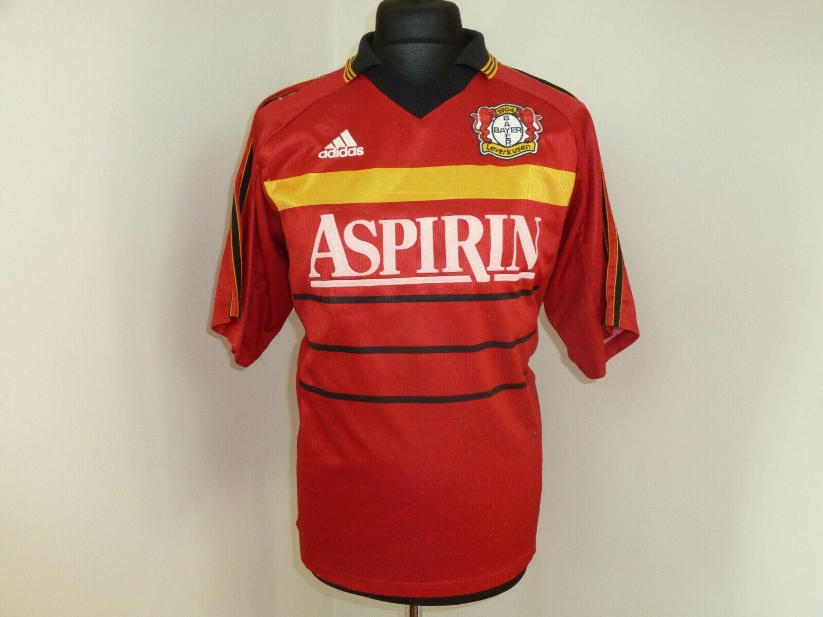 Bayer 04 Leverkusen Casa Calcio Camicia 1998  2000 Maglia da M