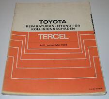 Werkstatthandbuch Karosserie Toyota Tercel AL 20 AL 21 25 Serie Stand Mai 1982!
