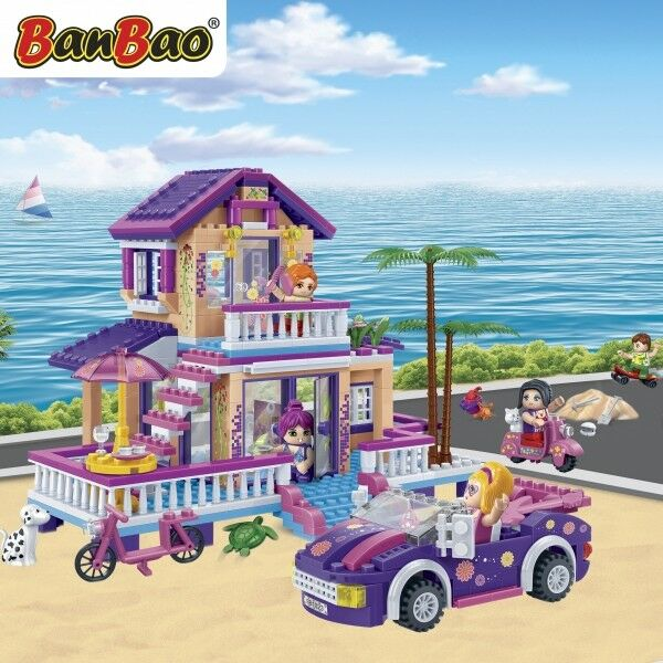 565 Bausteine Baukästen Kinder Geschenk Spielzeug Beach Banbao Beach Spielzeug House 393227