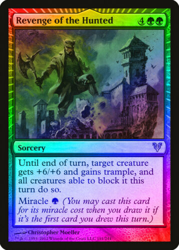 Revenge of the Hunted FOIL Avacyn Restored NM Green Rare MAGIC CARD ABUGames