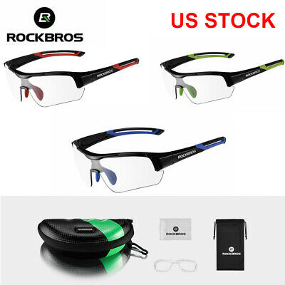 RockBros Cycling Photochromatic Glasses Outdoor Sports Sunglasses Goggles Blue