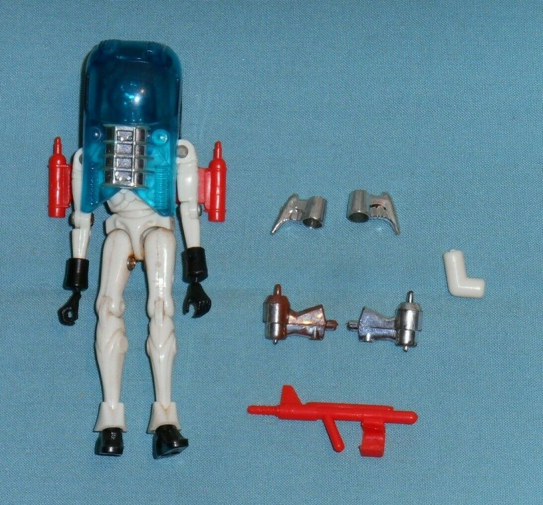 Jahr Mego Micronauts Weiß GALACTIC DEFENDER nearly complete (missing sword)