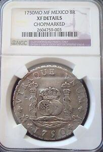 1750 MO MF Mexico 8 Reales silver NGC XF
