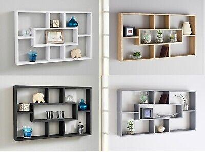Stylish Space Saving Floating Wall Shelves Display Shelf Bookshelf Storage Unit Ebay