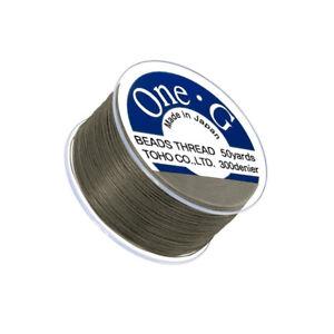 Toho-One-G-0-2mm-Nylon-Japanese-Beading-Thread-Lt-Khaki-50-Yards-Q108-9